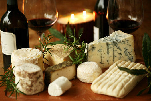 romantic cheese and wine dinner